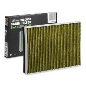 Filter, Innenraumluft Länge: 300mm, Breite: 198mm, Höhe: 30mm mit OEM-Nummer 9121627
