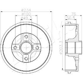 Renault Twingo 2 1.2 Turbo (CN0C, CN0F) Bremstrommel ASHIKA 56-00-0710 (1.2 Turbo Benzin 2019 D4F 782)