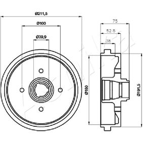 Bremstrommel mit OEM-Nummer 171 501 615A