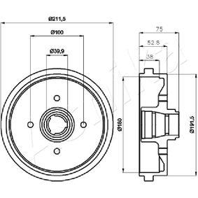 Bremstrommel mit OEM-Nummer 305 501615 1