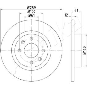 Bremsscheibe Bremsscheibendicke: 12,0mm, Ø: 259mm mit OEM-Nummer 6001 577 683