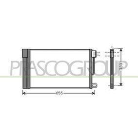Kondensator, Klimaanlage Kältemittel: R 134a mit OEM-Nummer 13310103