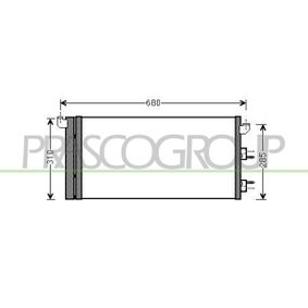 Condenser, air conditioning FT122C001 PANDA (169) 1.2 MY 2011