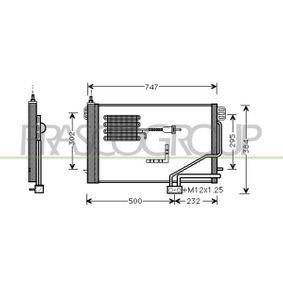 Kondensator, Klimaanlage mit OEM-Nummer 203 500 13 54