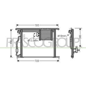 Kondensator, Klimaanlage Kältemittel: R 134a mit OEM-Nummer 220 500 1054
