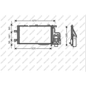 Kondensator, Klimaanlage mit OEM-Nummer 1850071