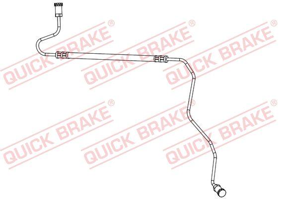 QUICK BRAKE  96.017 Bremsschlauch Länge: 650mm, Gewindemaß 1: M10x1, Gewindemaß 2: M10x1