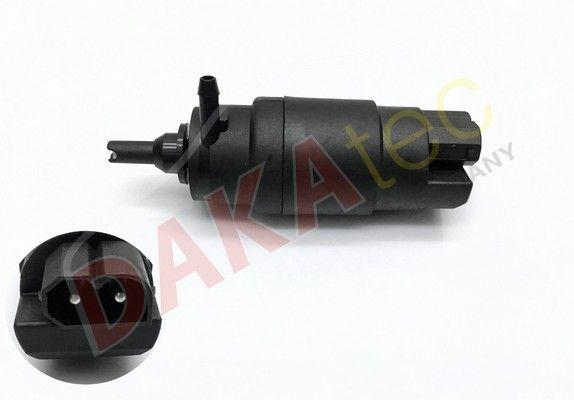 DAKAtec  40021W Waschwasserpumpe, Scheibenreinigung Spannung: 12V, Anschlussanzahl: 2,0