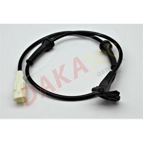 Sensor, Raddrehzahl Pol-Anzahl: 2-polig mit OEM-Nummer 9635384780