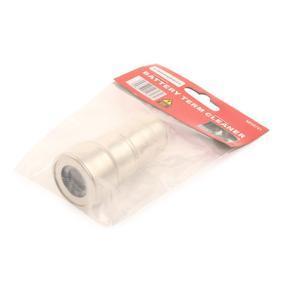 Escova de arame, limpeza dos bornes da bateria