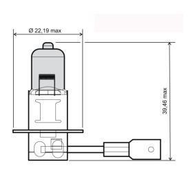 Крушка с нагреваема жичка, фар за дълги светлини H3, 55ват, 12волт 24 651 0040