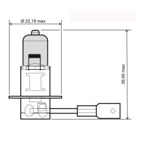 Glühlampe, Fernscheinwerfer H3, 55W, 12V 24 651 0045