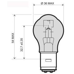 Крушка с нагреваема жичка, фар за дълги светлини S1, 25/25ват, 6волт 24 651 0345