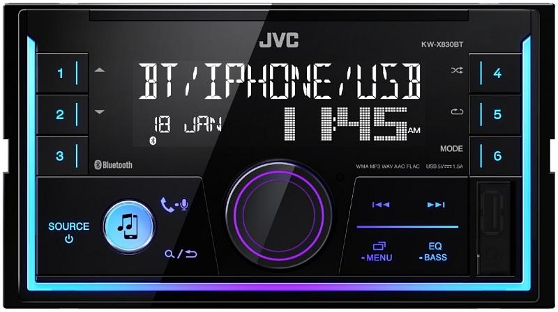 JVC  KW-X830BT Auto-Stereoanlage Leistung: 4x50W