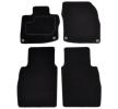 Floor mat set A041HON110PRM01 MAMMOOTH Textile, Front and Rear, Quantity: 4, Black