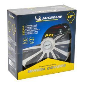 Kryty kol Jednotka množství: Sada, černá/stříbrná 16COSMOSILVERBLACK