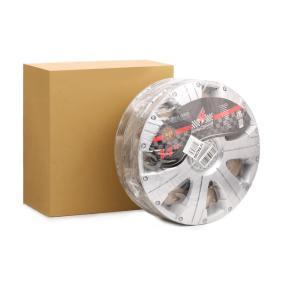 Капаци за колела единица-мярка за количество: комплект, сребърен 14RACING