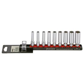 "Socket Set Square Drive Tang Size: 6.3 (1/4"")mm (inch), Spanner size: 1/2, 1/4, 11/32, 12pt., 3/16, 3/8, 5/16, 7/16, 7/32, 9/32"