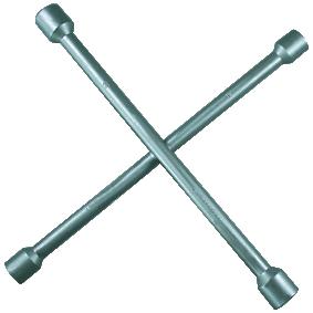 Llave de cruz para rueda de cuatro vías Long.: 335mm 02102L