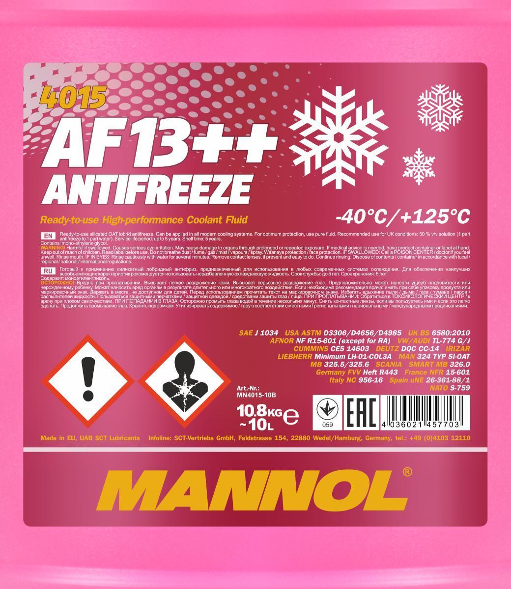Jäähdytinneste MANNOL MN4015-10 luokitus