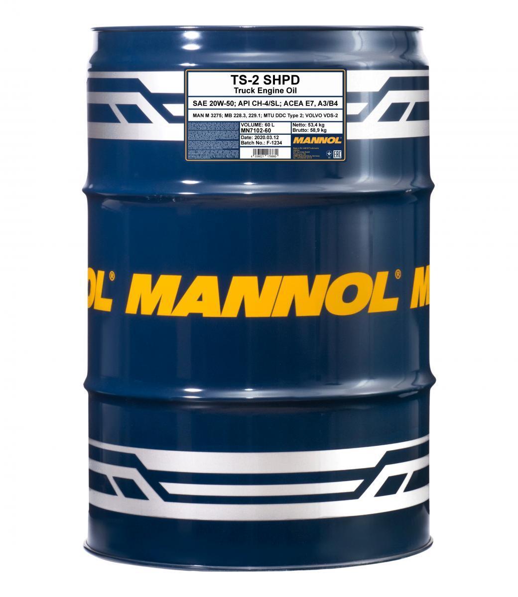 MANNOL TS-2, SHPD MN7102-60 Motoröl