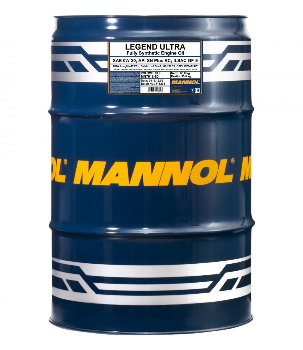 MANNOL LEGEND, ULTRA MN7918-60 Motoröl