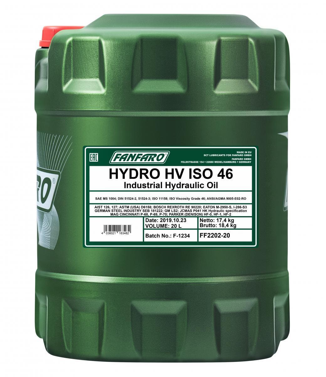FANFARO HYDRO HV FF2202-20 Hydrauliköl Inhalt: 20l
