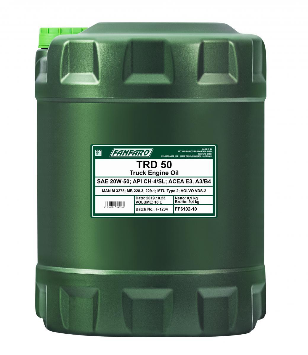 FANFARO SHPD, TRD 50 FF6102-10 Motoröl