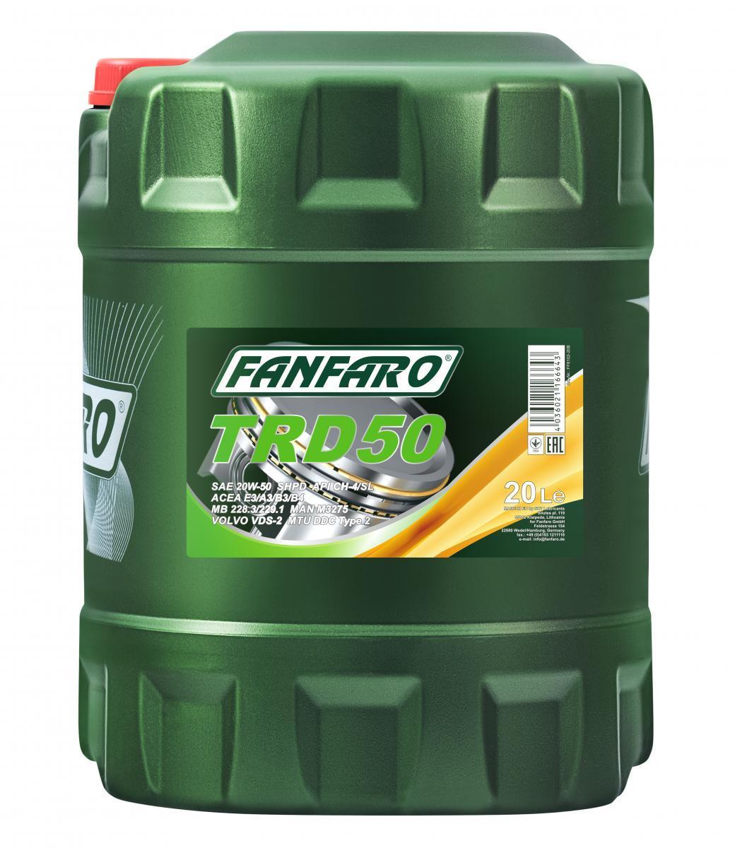 FANFARO SHPD, TRD 50 FF6102-20 Motoröl
