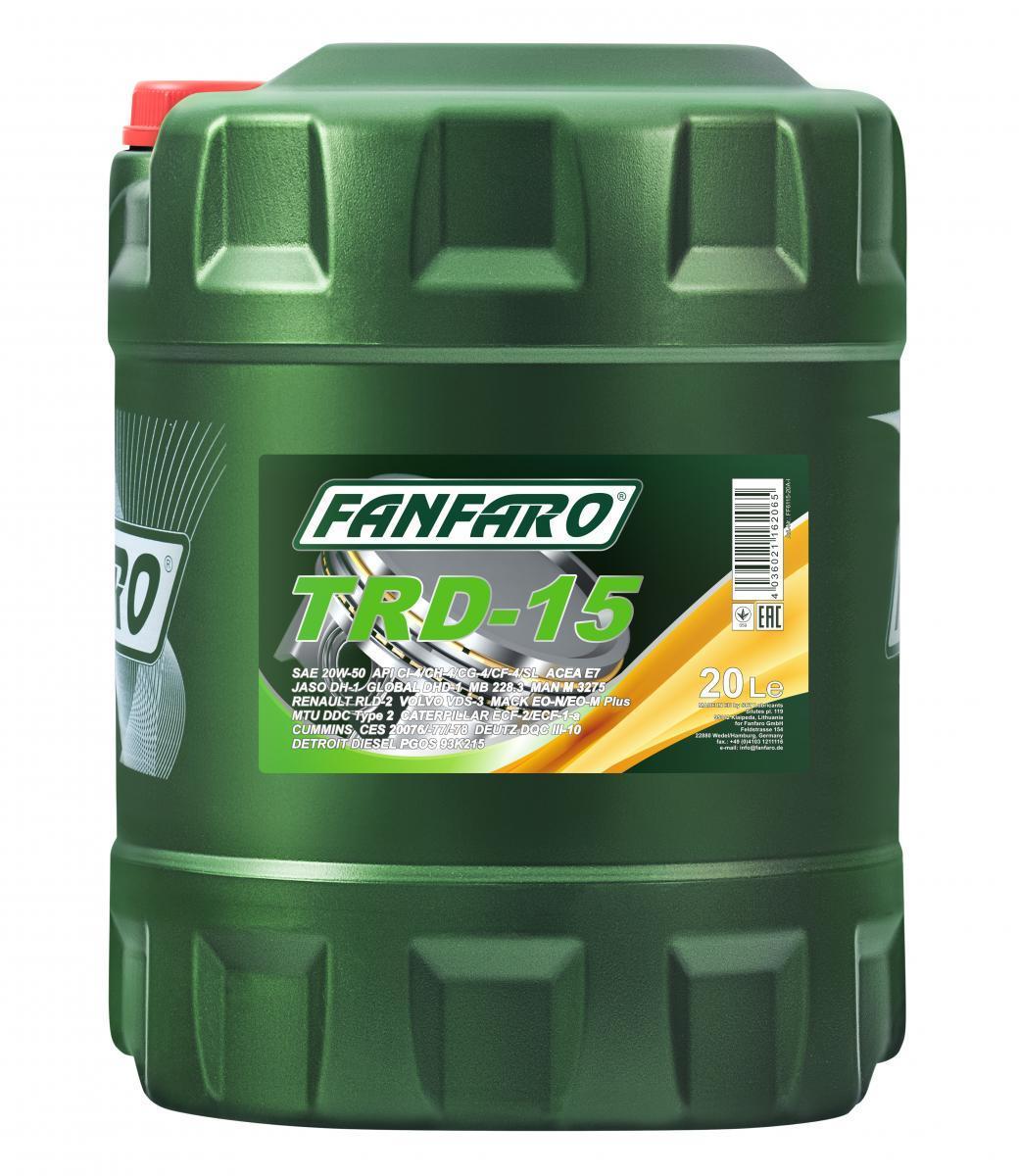 FANFARO SHPD, TRD-15 FF6115-20 Motoröl