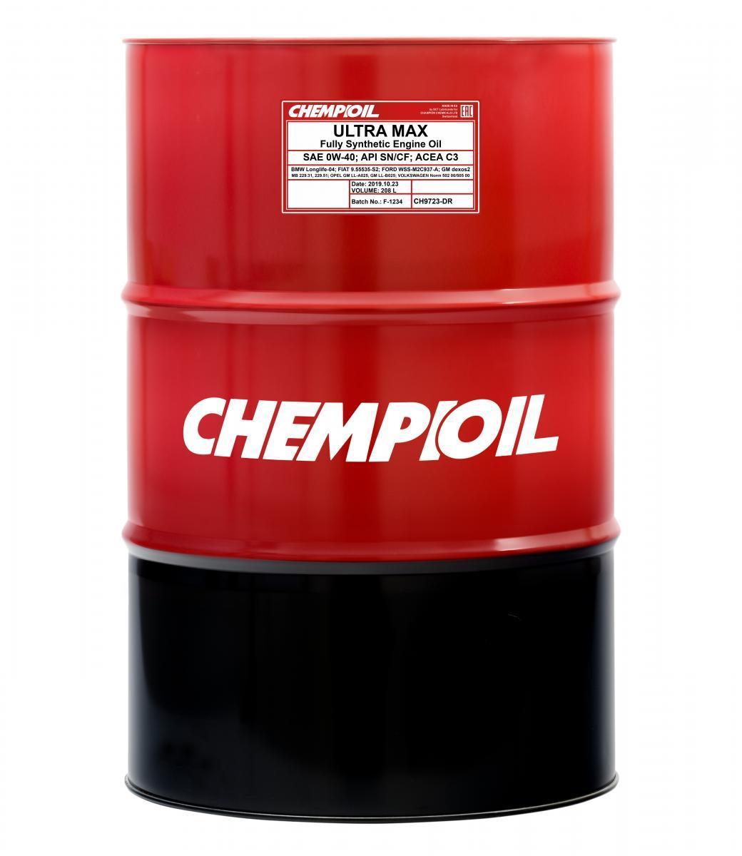 CHEMPIOIL Ultra, MAX CH9723-DR Motoröl