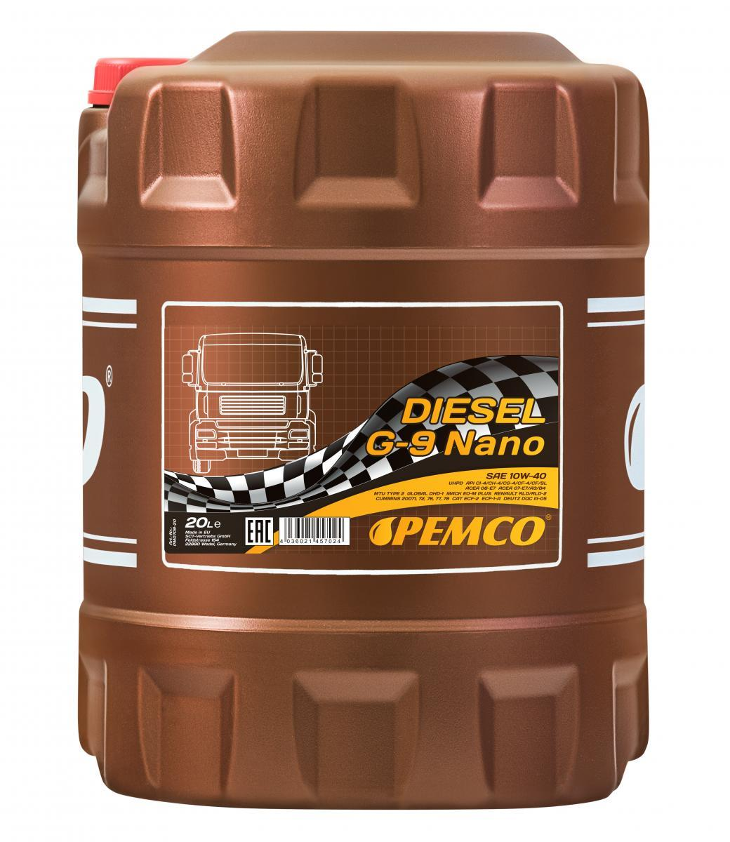 PEMCO Truck UHPD, DIESEL G-9 NANO PM0709-20 Motoröl