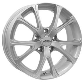 alloy wheel INTER ACTION PULSAR brilliant silver painted 15 inches 4x100 PCD ET35 IT63156023501SF