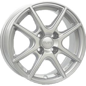 alloy wheel ANZIO SPLIT brilliant silver painted 15 inches 4x108 PCD ET23 SPL60523P21