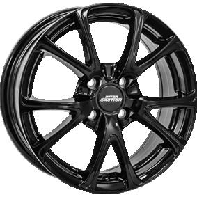 alloy wheel INTER ACTION PULSAR schwarz glanz 15 inches 4x108 PCD ET42 IT63156034222BF