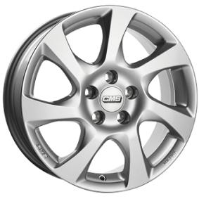 алуминиеви джант CMS C24 брилянтно сребърно боядисани 15 инча 5x100 PCD ET43 C24 605 43 53S CS