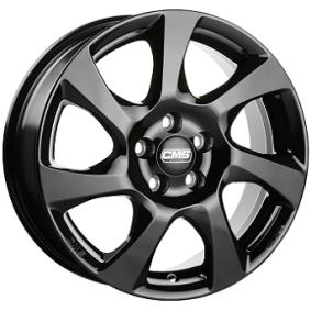 alloy wheel CMS C24 schwarz glanz 15 inches 5x100 PCD ET43 C24 605 43 53S CBG