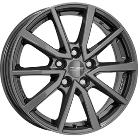 alloy wheel ANZIO VEC Antraciet Dunkel 16 inches 5x100 PCD ET45 VEC60645V77-6