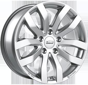 CMS C22 brilliant silver painted alloy wheel 6,5xR16 PCD 5x105 ET39 d56,6