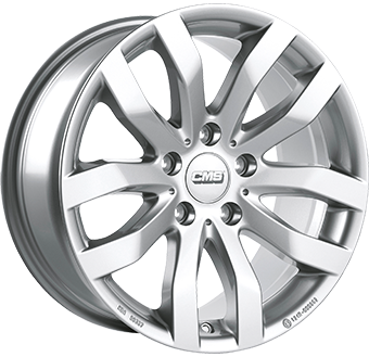 CMS C22 brilliant silver painted alloy wheel 6,5xR16 PCD 5x114 ET50 d67,1