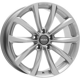 alloy wheel MAK WOLF brilliant silver painted 20 inches 5x114 PCD ET33 F6520WFSI33FNX