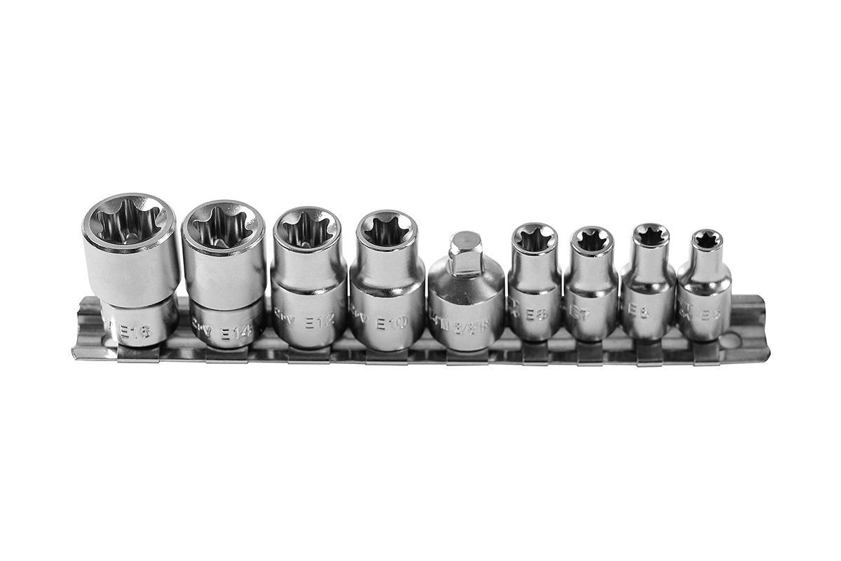 Hogert Technik  HT1A884 Socket Set Spanner size: T10, T12, T14, T16, T5, T6, T7, T8