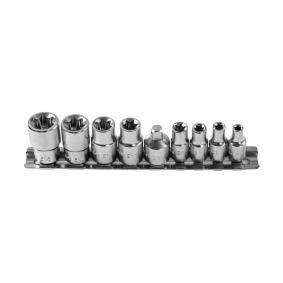 Zestaw kluczy nasadowych Rozmiar klucza: T10, T12, T14, T16, T5, T6, T7, T8