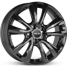 alloy wheel OXXO OBERON 5 schwarz glanz 16 inches 5x108 PCD ET50 OX08-651650-X4-03