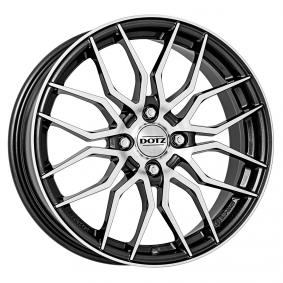 alloy wheel DOTZ LIMEROCK gun-metal-poliert 17 inches 4x100 PCD ET44 OLRY2FP44E