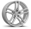 DEZENT TZ, 17cal, pomalowany w kolorze jasnosrebrnym, 5-otworowa, 100[mm], felga aluminiowa TTZ96SA39E