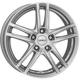 alloy wheel DEZENT TZ brilliant silver painted 15 inches 5x105 PCD ET37 TTZKASA37E