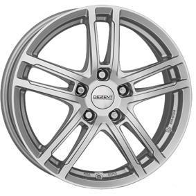 alloy wheel DEZENT TZ brilliant silver painted 16 inches 5x100 PCD ET35 TTZO6SA35E