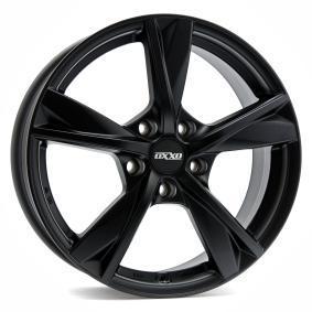 lichtmetalen velg OXXO MIMAS BLACK (OX12) Mat zwart/gepolijst 15 inches 5x114 PCD ET45 OX12-601545-W4-53