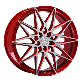 alloy wheel AXXION AX9 mattrot Front poliert 19 inches 5x112 PCD ET45 18033